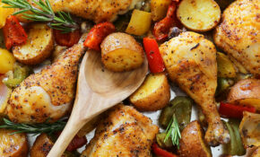 Rosemary Roasted Chicken With Bell Peppers And Potatoes – Rosemary Recipes Chicken