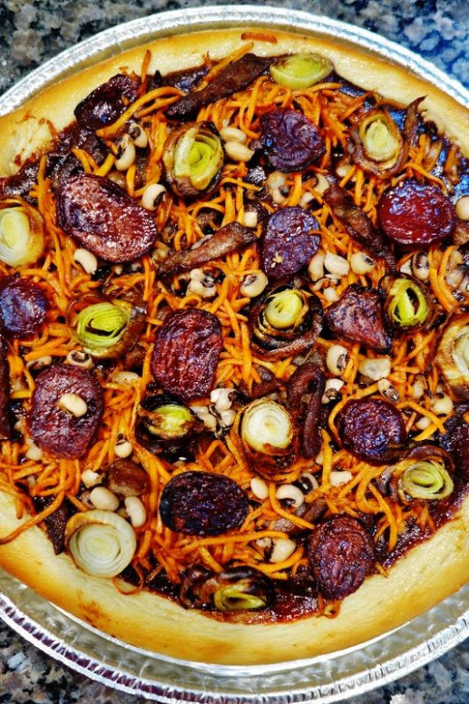 Rosh Hashana Simanin pizza, a fun recipe with a lot of ..