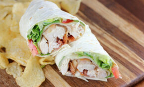 Rotisserie Chicken Club Wrap Recipe | BlogChef