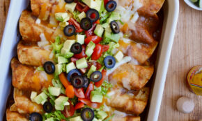 Rotisserie Chicken Enchiladas | Just A Taste – Recipes Rotisserie Chicken
