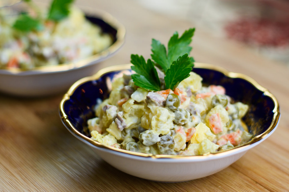 Russian Salad Recipe - Russian Food Recipes