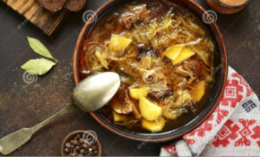 Russian Vegetarian Sour Cabbage Soupe Shchi With Dried ..