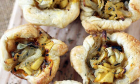 Rustic Appetizers With Caramelized Onion, Apple, And ..