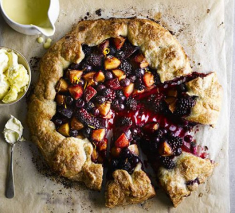 Rustic harvest fruit tart recipe | BBC Good Food - recipes for dinner vegetarian