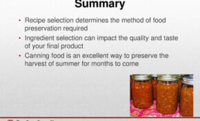 Safe, Simple, Easy To Learn Salsa – Ppt Download – Recipes In Food Preservation