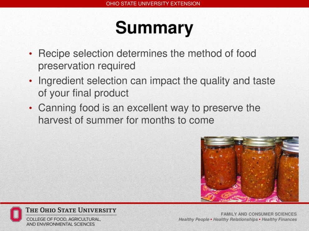 Safe, Simple, Easy to Learn Salsa - ppt download - recipes in food preservation