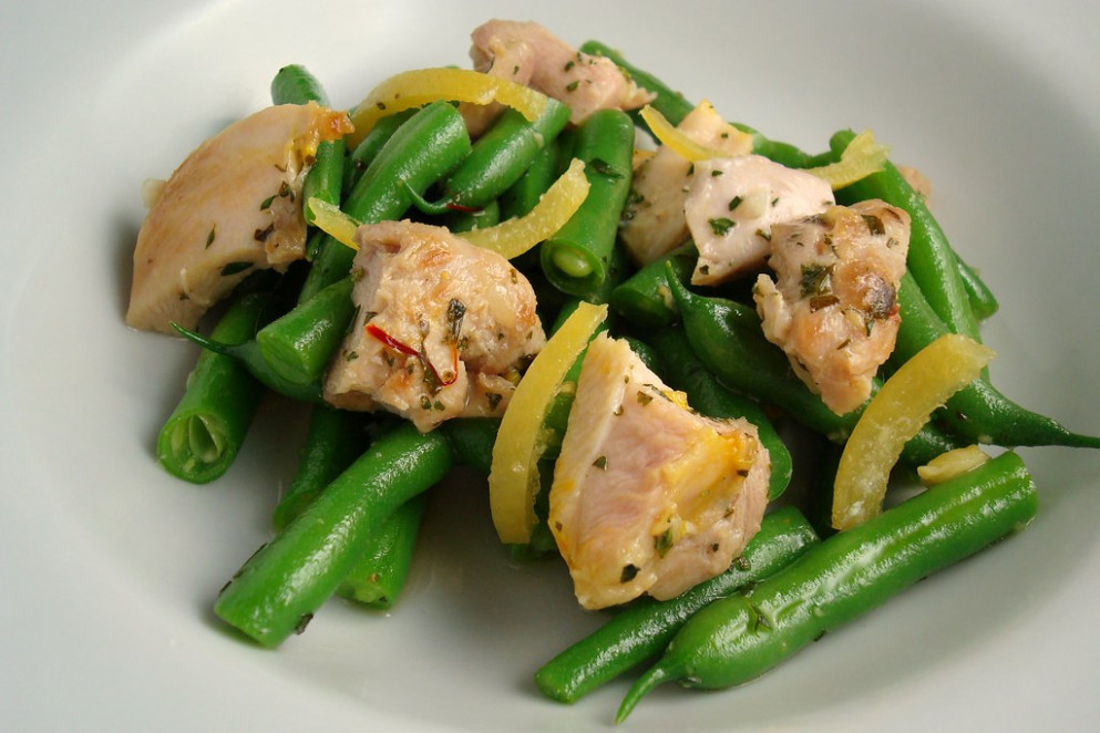 Saffron Chicken, Boiled Lemon And Green Bean Salad - Recipes For Chicken Salad