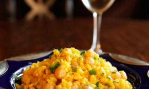 Saffron Chickpea Risotto – Vegetarian Risotto Recipe – Risotto Recipes Vegetarian