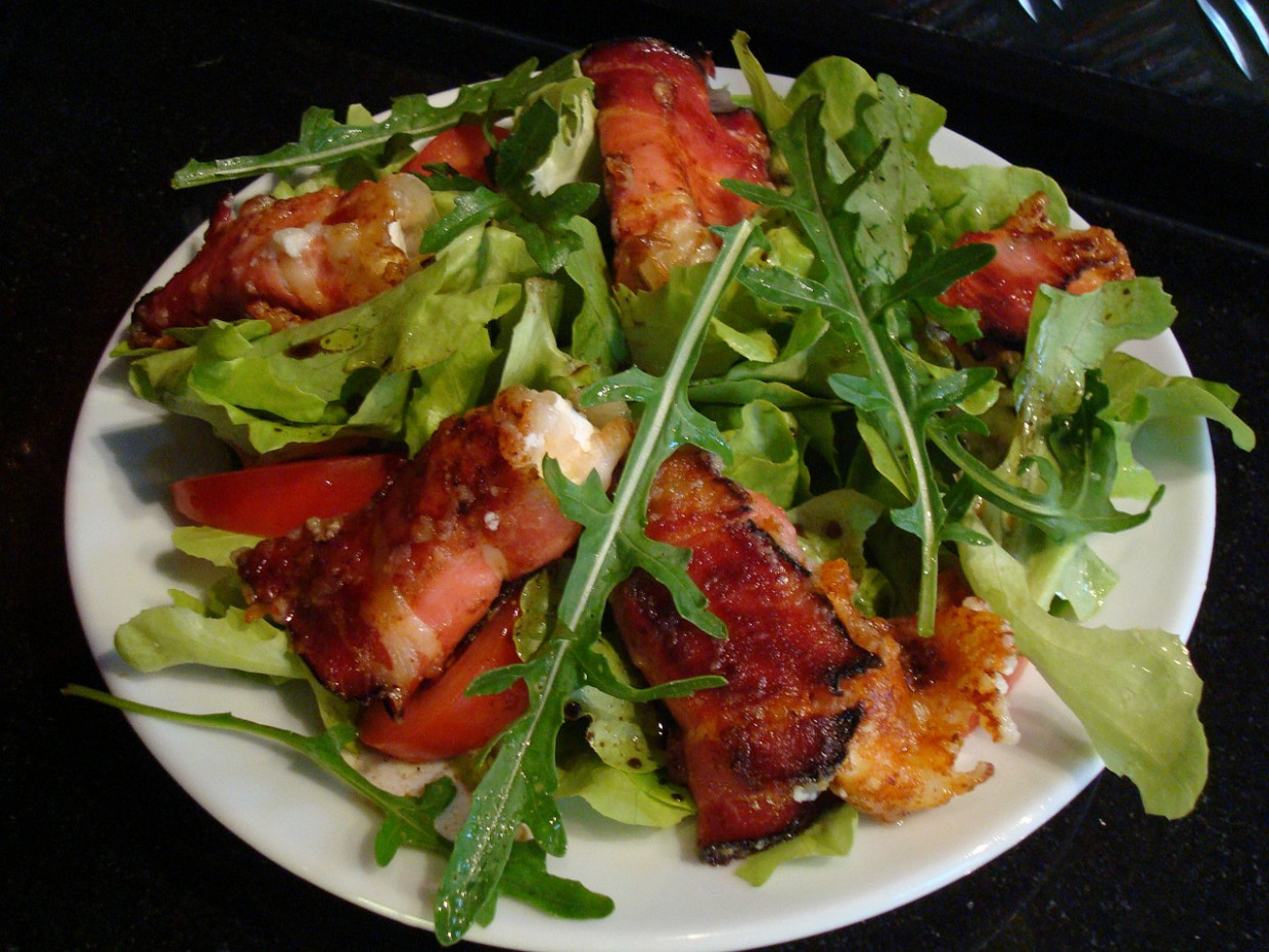 Salad, Bacon, Eat, Appetite, Rocket - recipes of healthy salads