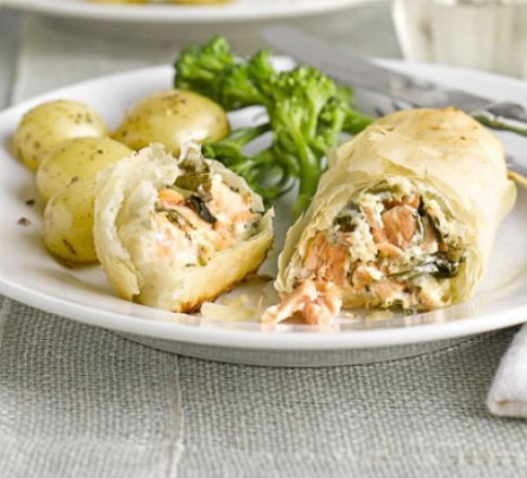 Salmon & watercress parcels recipe | BBC Good Food - recipes with couscous vegetarian