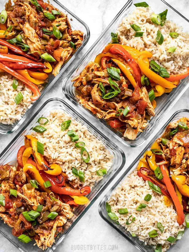 Salsa Chicken Meal Prep Bowls - Budget Bytes - meal prep recipes chicken