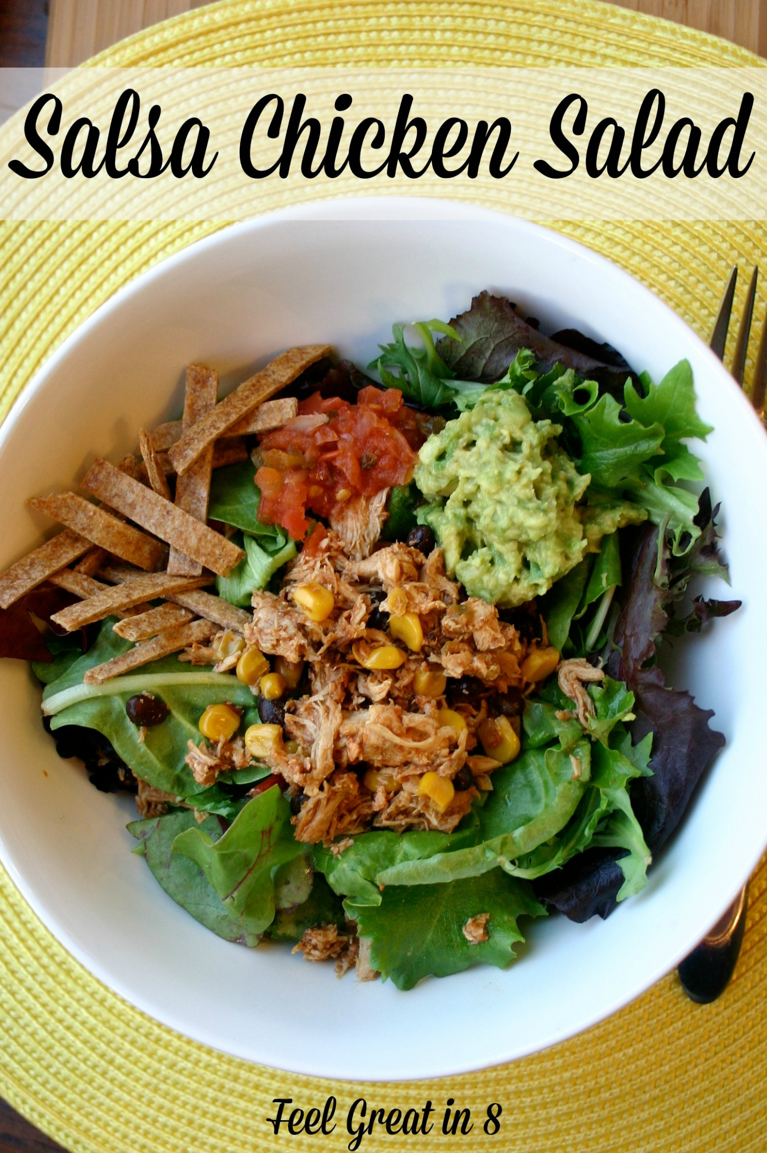 Salsa Chicken Salad - healthy recipes salads