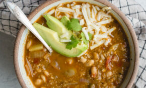 Salsa Verde Quinoa Chili – Recipe Vegetarian Quinoa Chili