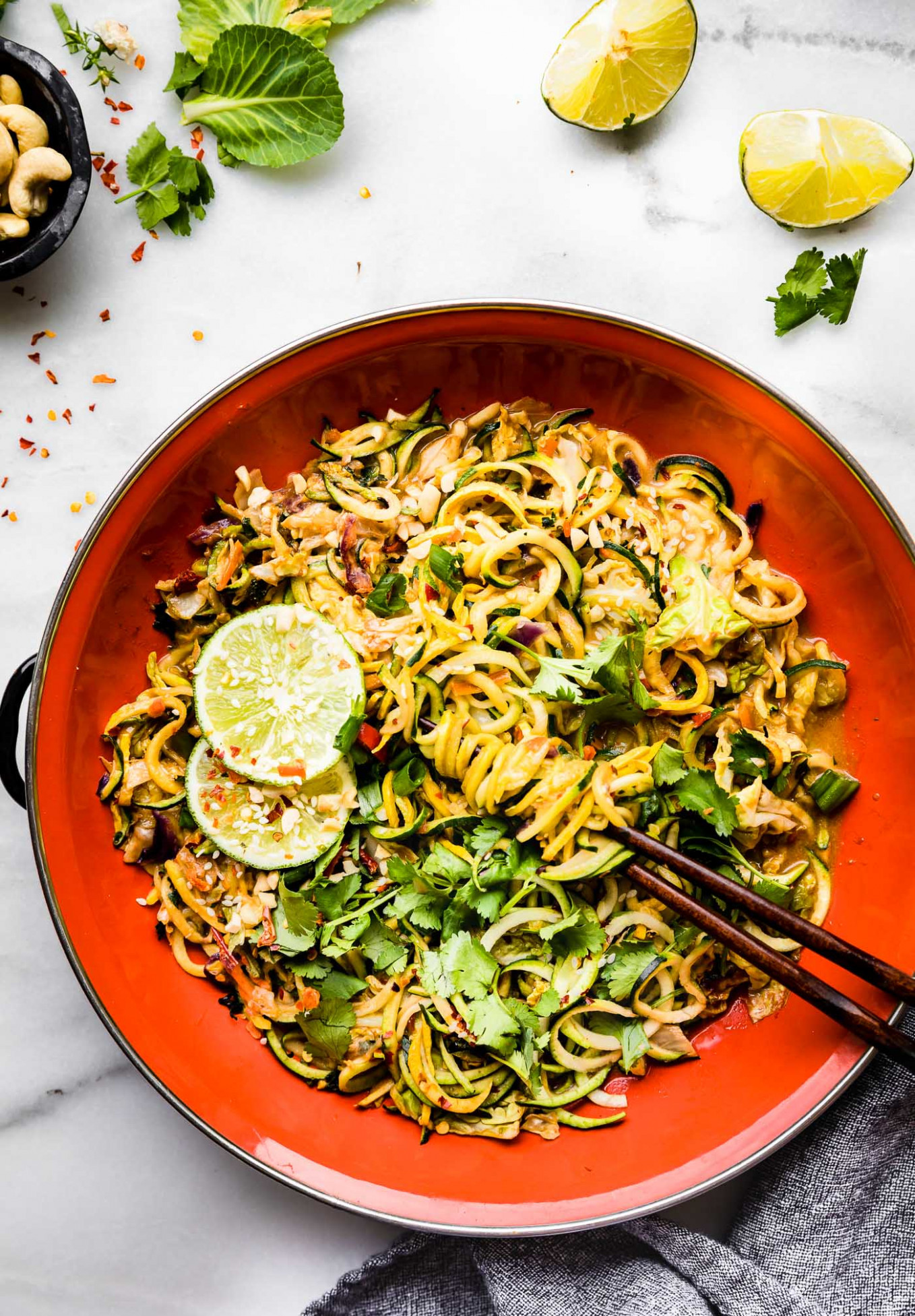 Satay-Style Spiralized Vegetable Stir Fry Recipe - recipes vegetarian stir fry