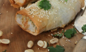 Satay Vegetable Filo Parcels | Nourish Magazine – Recipes Using Filo Pastry Vegetarian