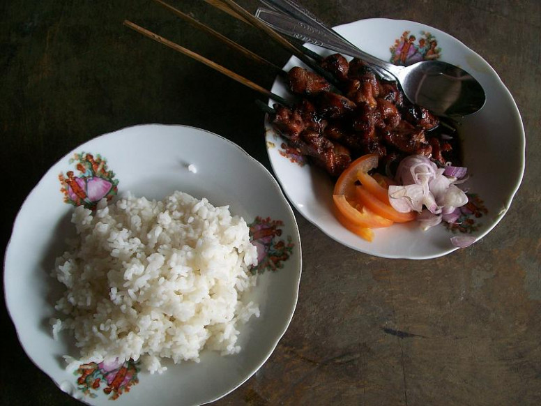 Sate kambing - Wikipedia - food recipes with rice