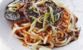 Saucy Miso Mushrooms With Udon Noodles – Recipe Vegetarian Udon Noodle Soup