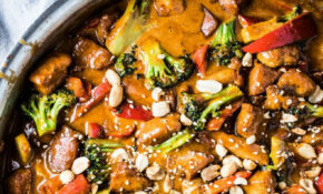 Saucy Peanut Chicken With Broccoli And Peppers | The Endless ..