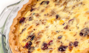 Sausage And Cranberry Quiche | Devour Dinner – Quiche Recipes Dinner