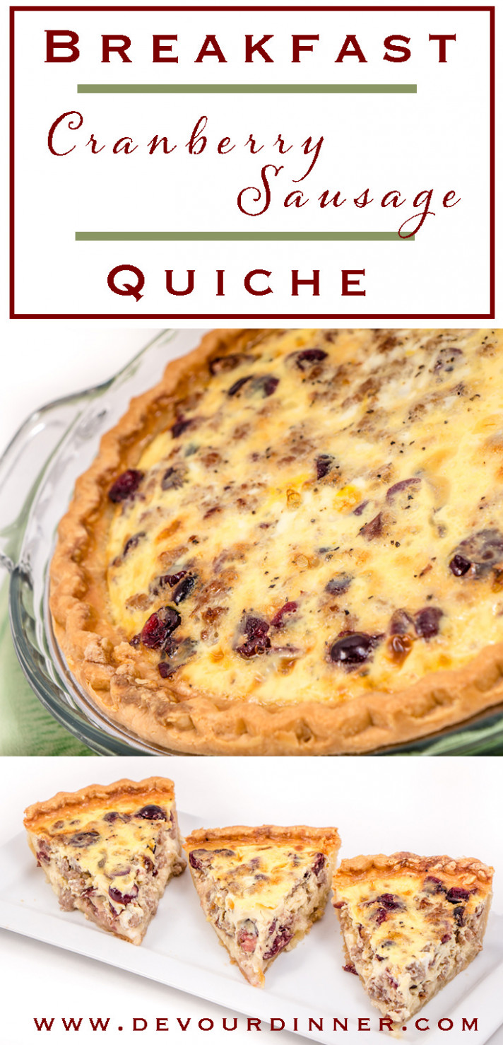 Sausage and Cranberry Quiche | Devour Dinner