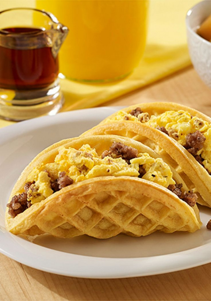 Sausage And Egg Waffle Tacos | Recipe In 2019 | Kid ..