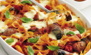 Sausage and roast vegetable pasta bake - delicious. magazine