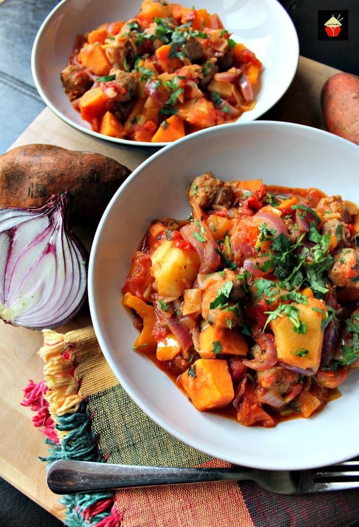 Sausage and Sweet Potato Dinner. A really quick, easy and ..
