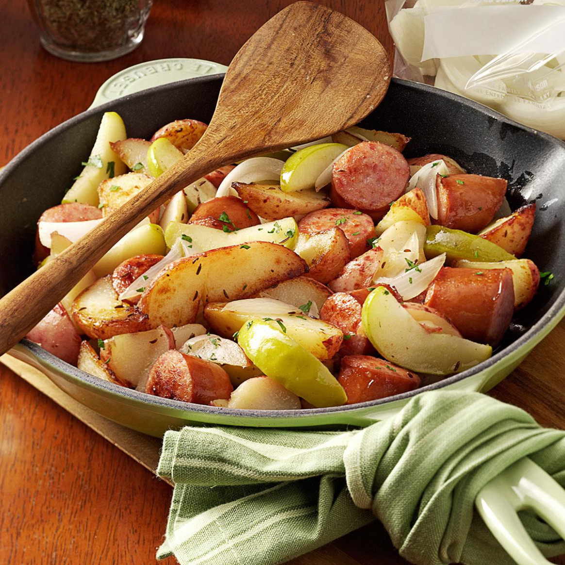 Sausage Skillet Dinner Recipe | Taste Of Home - Recipes Ideas For Dinner