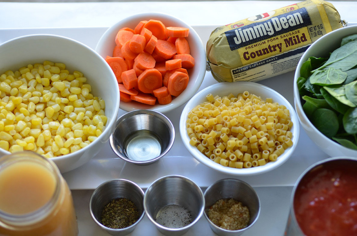Sausage Soup with Pasta and Veggies• Happy Family Blog - jimmy dean sausage recipes dinner