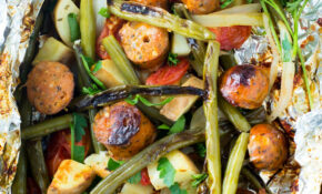 Sausage & Veggie Foil Packets – Chicken And Veggie Recipes