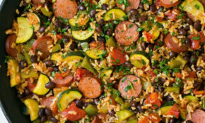 Sausage Zucchini And Brown Rice Skillet (One Pan) – Recipes With Sausage For Dinner