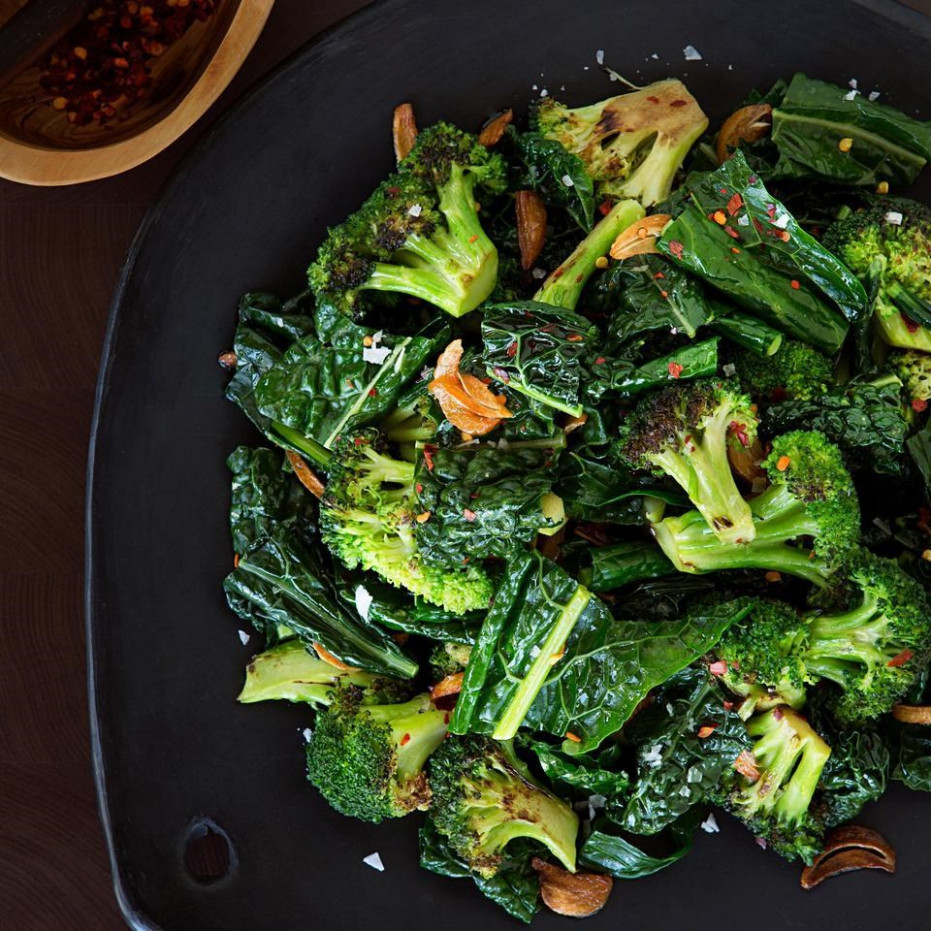 Sauteed Broccoli & Kale with Toasted Garlic Butter - dinner recipes kale