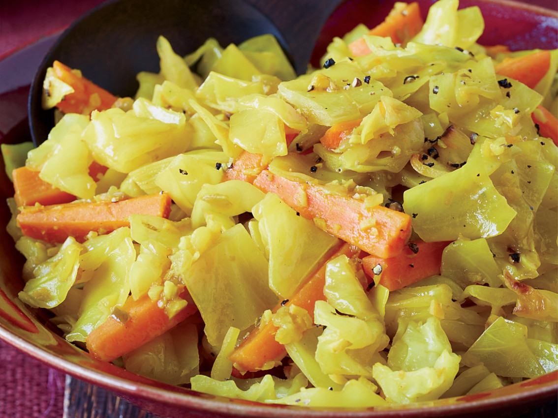 Sautéed Cabbage And Carrots With Turmeric - Cabbage Recipes Vegetarian