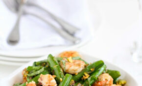 Sautéed Shrimp, Snap Peas & Pistachios With Basil Recipe #recipe #healthy – Healthy Recipes Shrimp