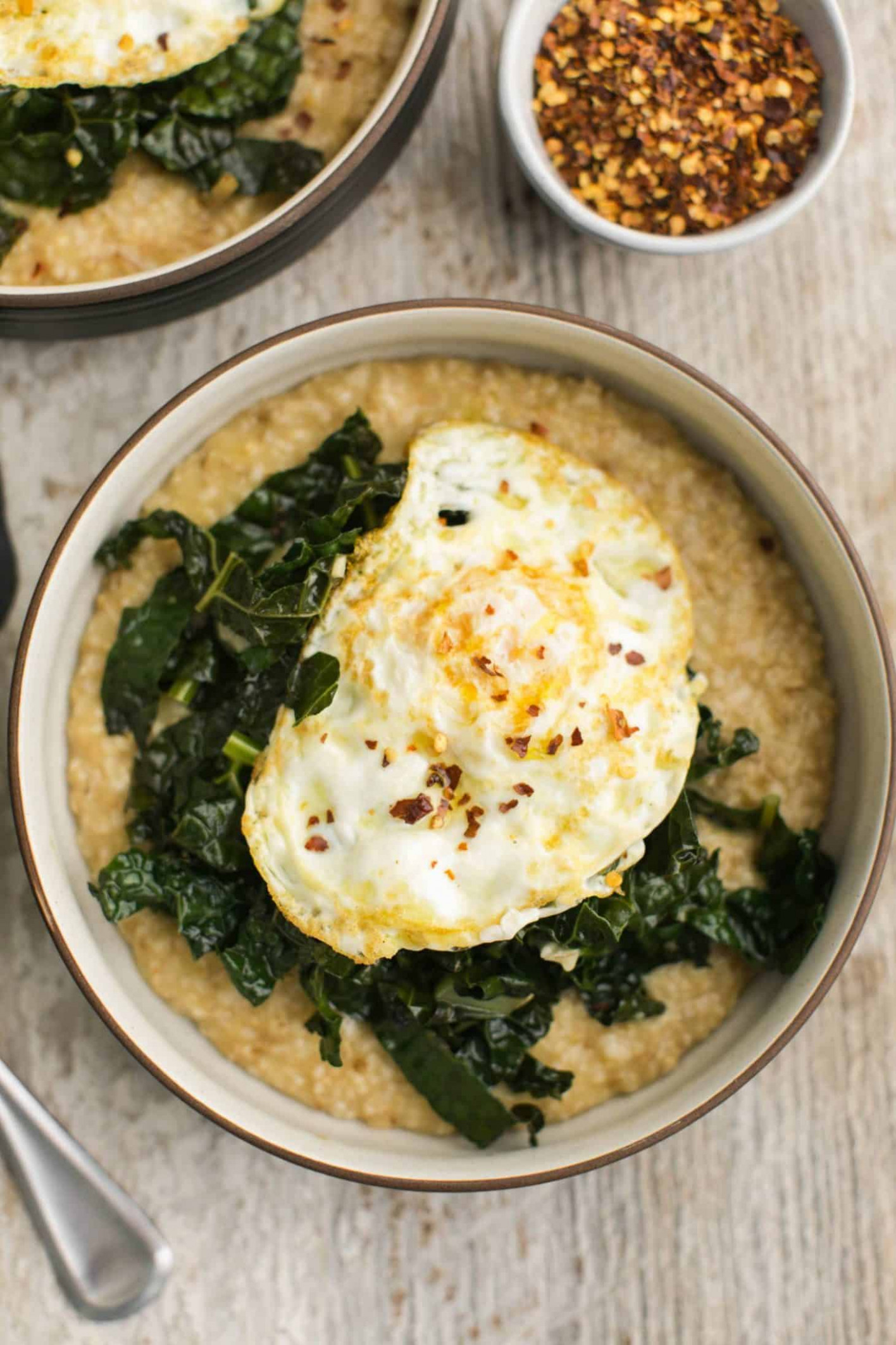 Savory Oatmeal with Garlicky Kale - oatmeal recipes dinner