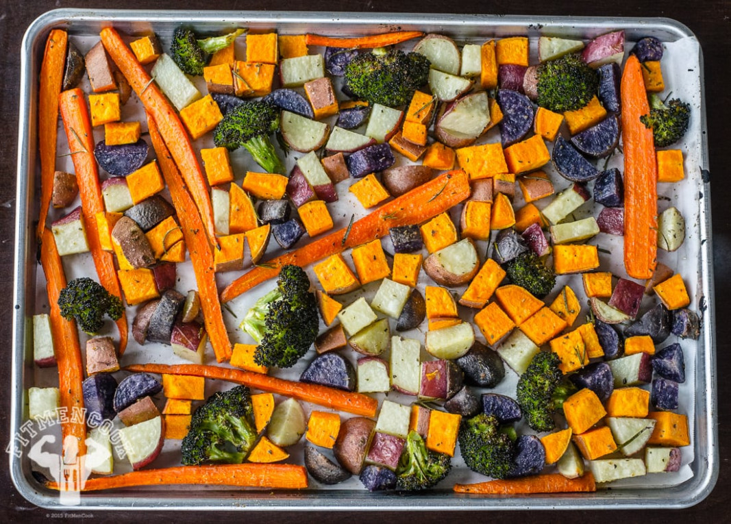 Savory Roasted Vegetables for Meal Prep - Fit Men Cook - recipes vegetarian meal prep