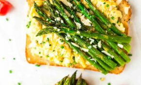 Scrambled Egg Toast With Roasted Asparagus – Vegetarian Recipes Asparagus