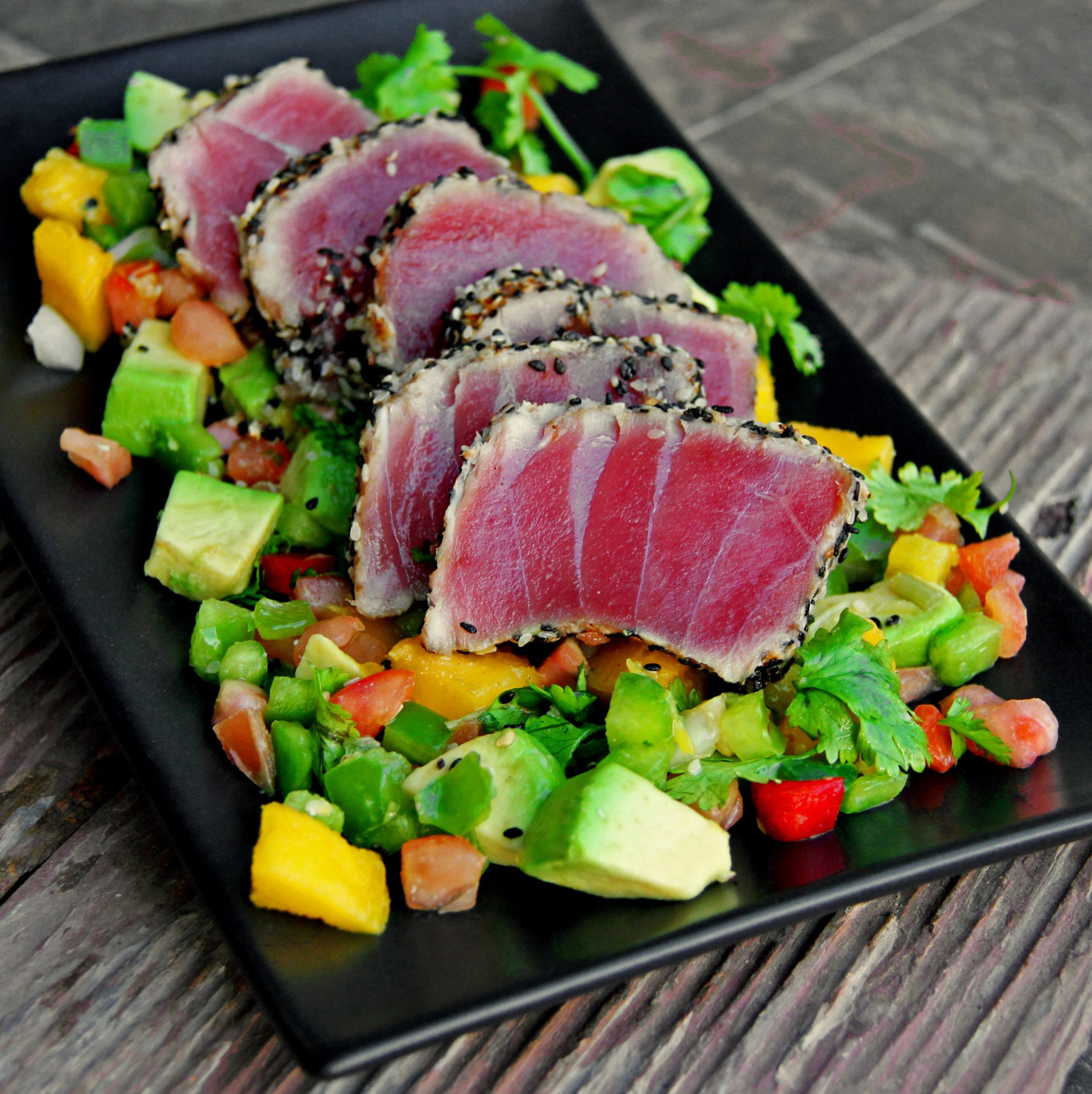 Seared Sesame Ahi Tuna - fresh tuna recipes dinner