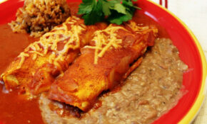 Seitan And Cheese Enchiladas (vegan) – Recipes Vegetarian Enchiladas