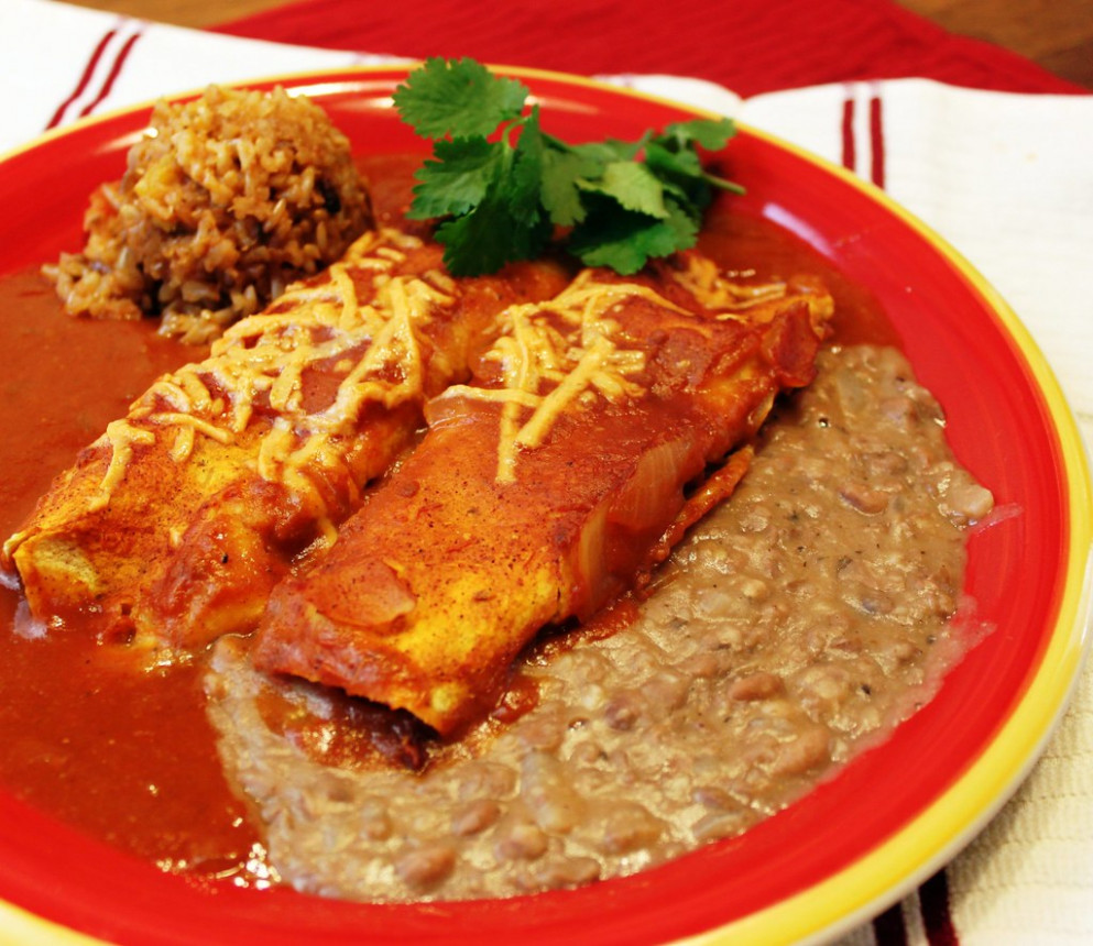 Seitan and Cheese Enchiladas (vegan) - recipes vegetarian enchiladas