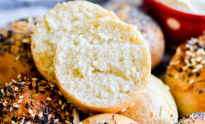 Semi Homemade Mini Bagels – Something Swanky – Recipes Using Rhodes Dinner Rolls