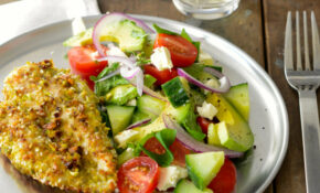 Sesame And Pistachio Chicken Schnitzel With Turkish Salad ..