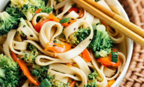 Sesame Broccoli Noodle Bowl (Vegan) – The Veggie Chick – Vegetarian Noodle Recipes