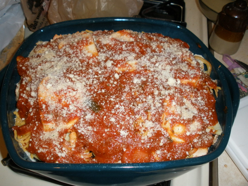Seven Cheese Vegetarian Lasagna (Before Cooking) - ricotta recipes dinner