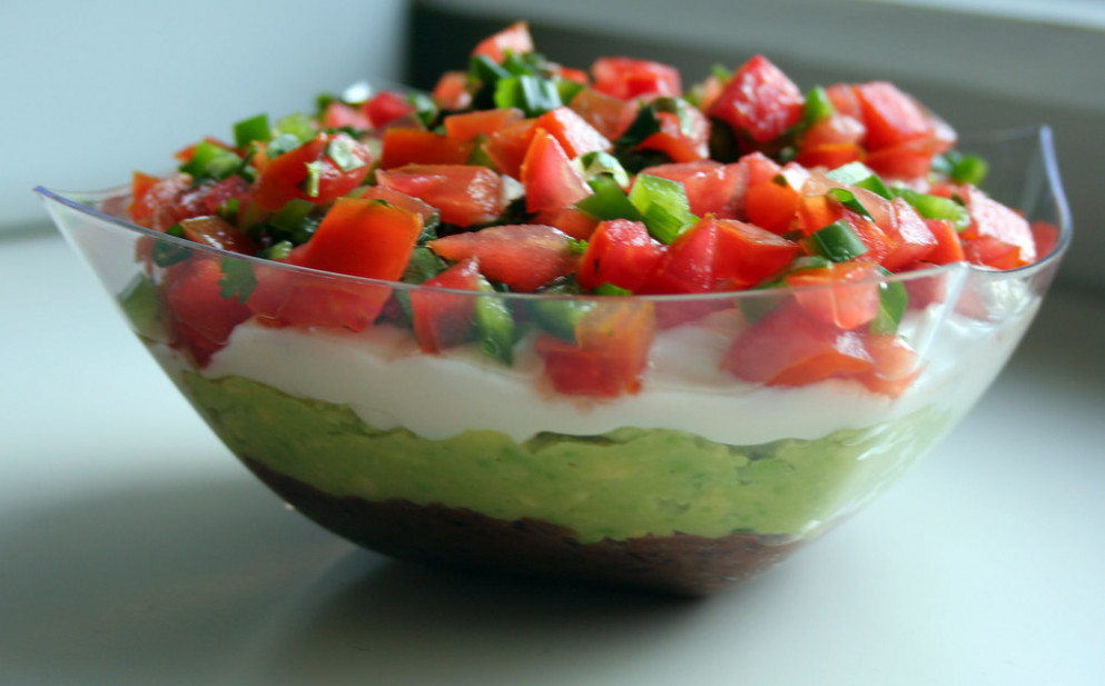 Seven Layer Dip - low fat recipes dinner
