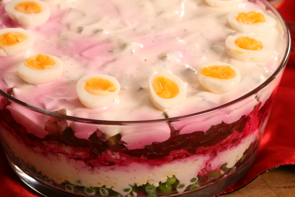 Seven Layer Salad :) / Kihiline Peedi Juustusalat - New Year's Eve Recipes Dinner