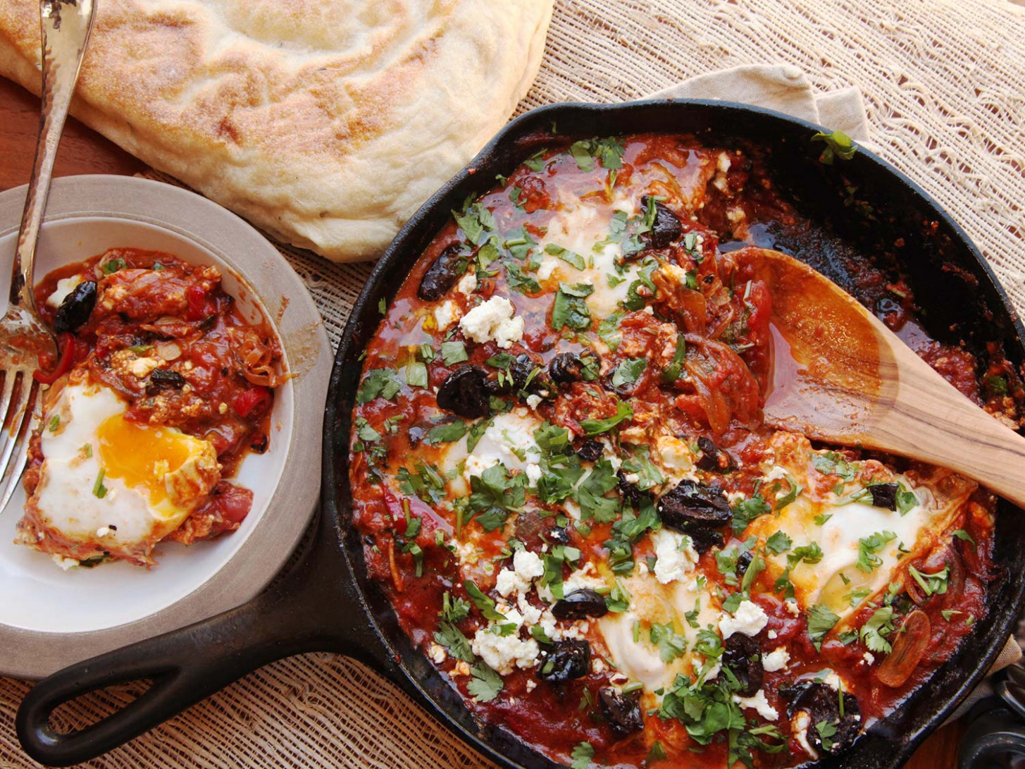 Shakshuka (North African–Style Poached Eggs in Spicy Tomato Sauce) Recipe - recipes of eggs for dinner
