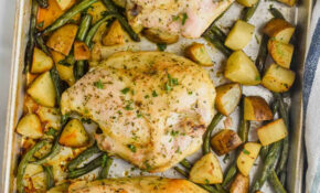 Sheet Pan Chicken And Veggies – Wine & Glue – Chicken Recipes For A Crowd