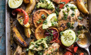 Sheet Pan Cuban Chicken With Citrus Avocado Salsa. - Half ...