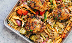 Sheet Pan Honey Balsamic Chicken Thighs With Veggies – Chicken Recipes Vegetables